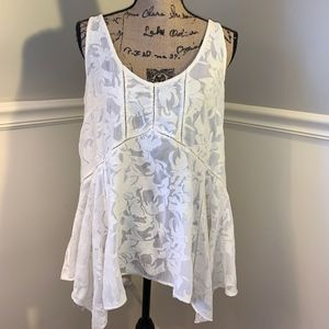 VANESSA VIRGINIA for Anthropologie Lacework Tank🐝